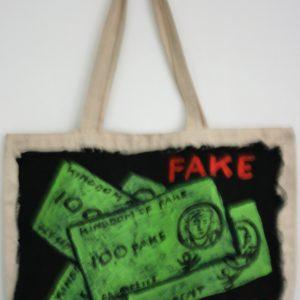 Fake money bag